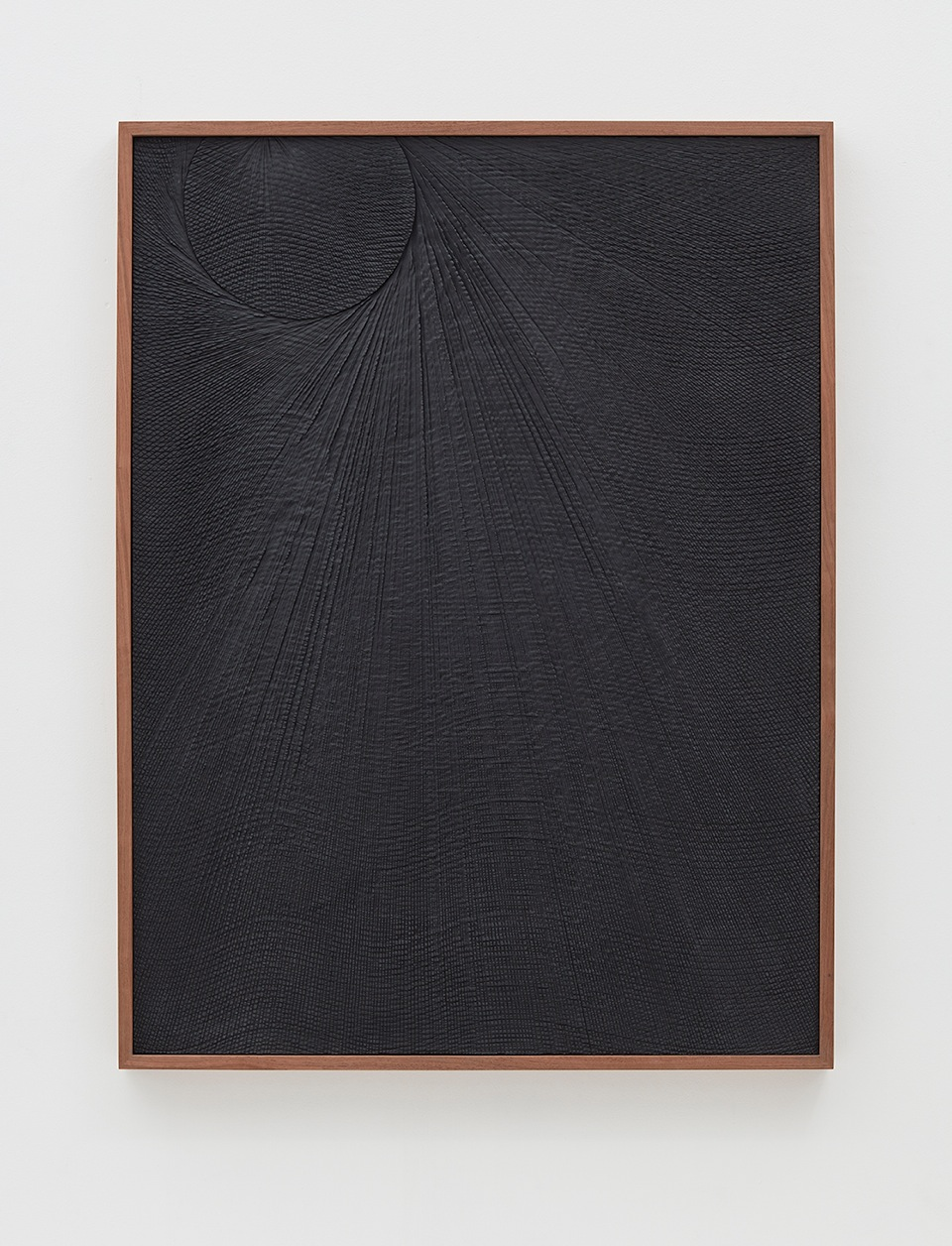 Anthony Pearson Untitled (Etched Plaster) 2016 Pigmented hydrocal in walnut frame 48.75 x 37 x 2.5 in (123.83h x 93.98w x 6.35d cm) AP415