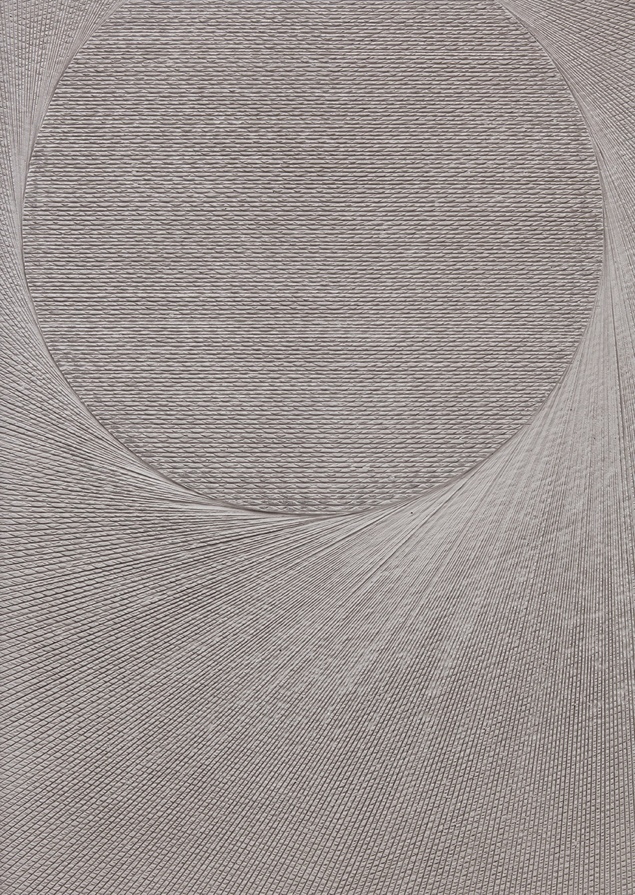 Anthony Pearson Untitled (Etched Plaster), Detail 2016 Pigmented hydrocal in walnut frame 43 x 30.75 x 2.5 in (109.22h x 78.11w x 6.35d cm) AP416