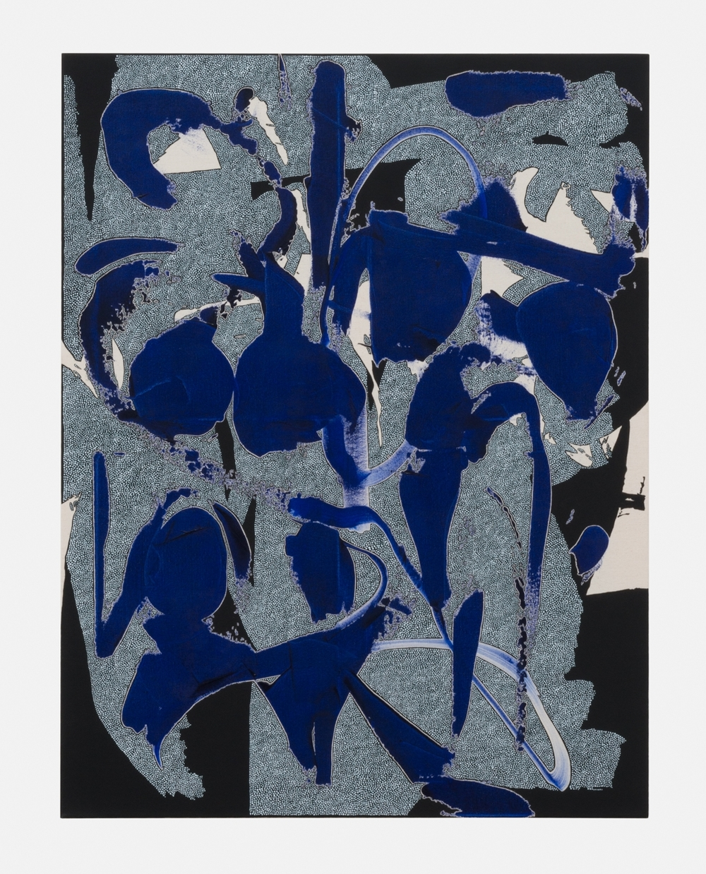 Zak Prekop  Unmeasured Pattern (Blue)  2016 Oil on canvas 35h x 27w in ZP345