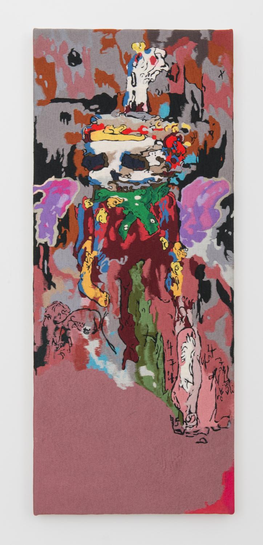 Ivan Morley  Tehachepi, (sic)  2016 Thread on canvas 37.5h x 15.5w in IM001