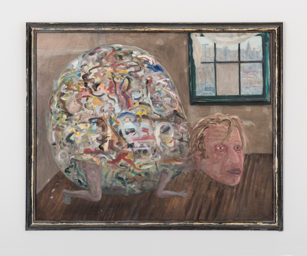 Jim Lutes  All Balled Up  1989 Oil on plywood 24h x 30w in JLutes003
