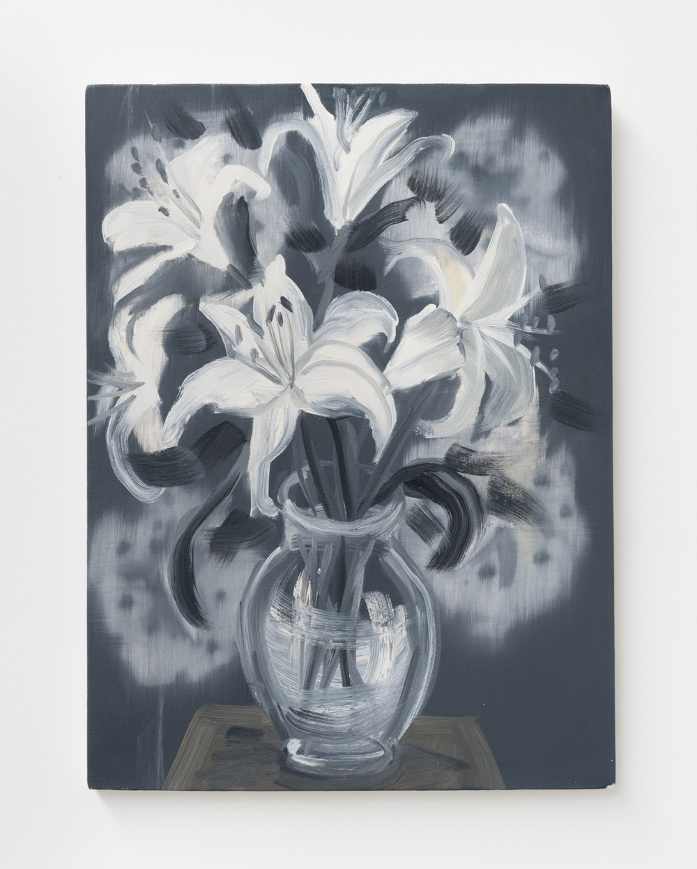 Ann Craven Flowers (Feb 15) 2010 Oil on canvas 24 x 18 in (60.96h x 45.72w cm) AC147