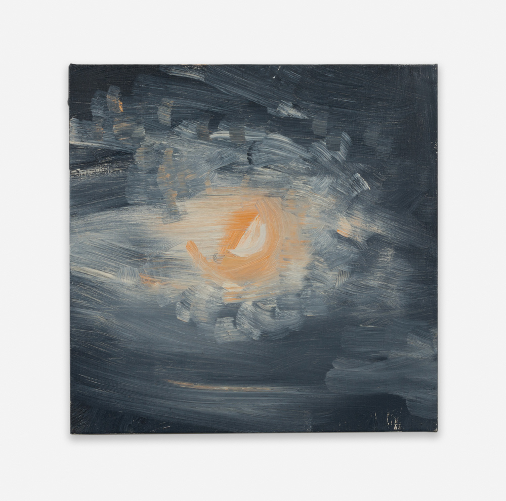 Ann Craven Moon (Guilford, 8-25-12, 10PM), 2012 2012 Oil on linen 14 x 14 in (35.56h x 35.56w cm) AC126
