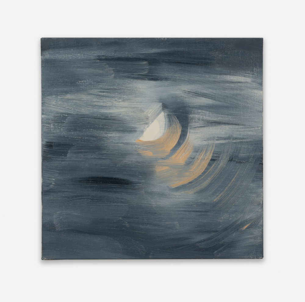 Ann Craven Moon (Guilford, 8-25-12, 10:30PM), 2012 2012 Oil on linen 14 x 14 in (35.56h x 35.56w cm) AC129
