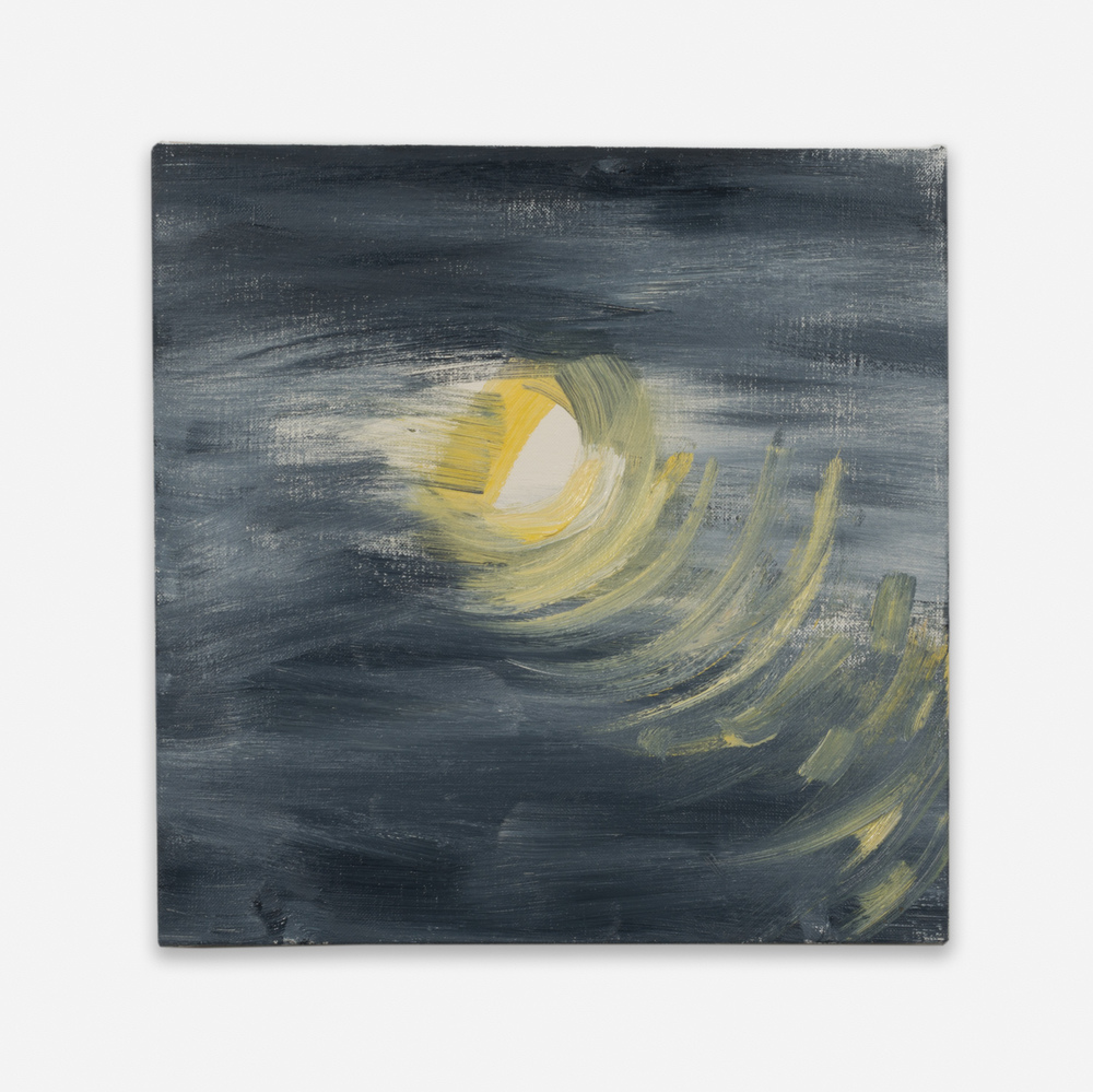 Ann Craven Moon (Guilford, 8-25-12, 10:48PM), 2012 2012 Oil on linen 14 x 14 in (35.56h x 35.56w cm) AC130