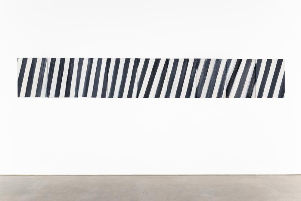 Ann Craven  Stripe (A#1-9)  2010 Oil on canvas 24h x 162w in AC148