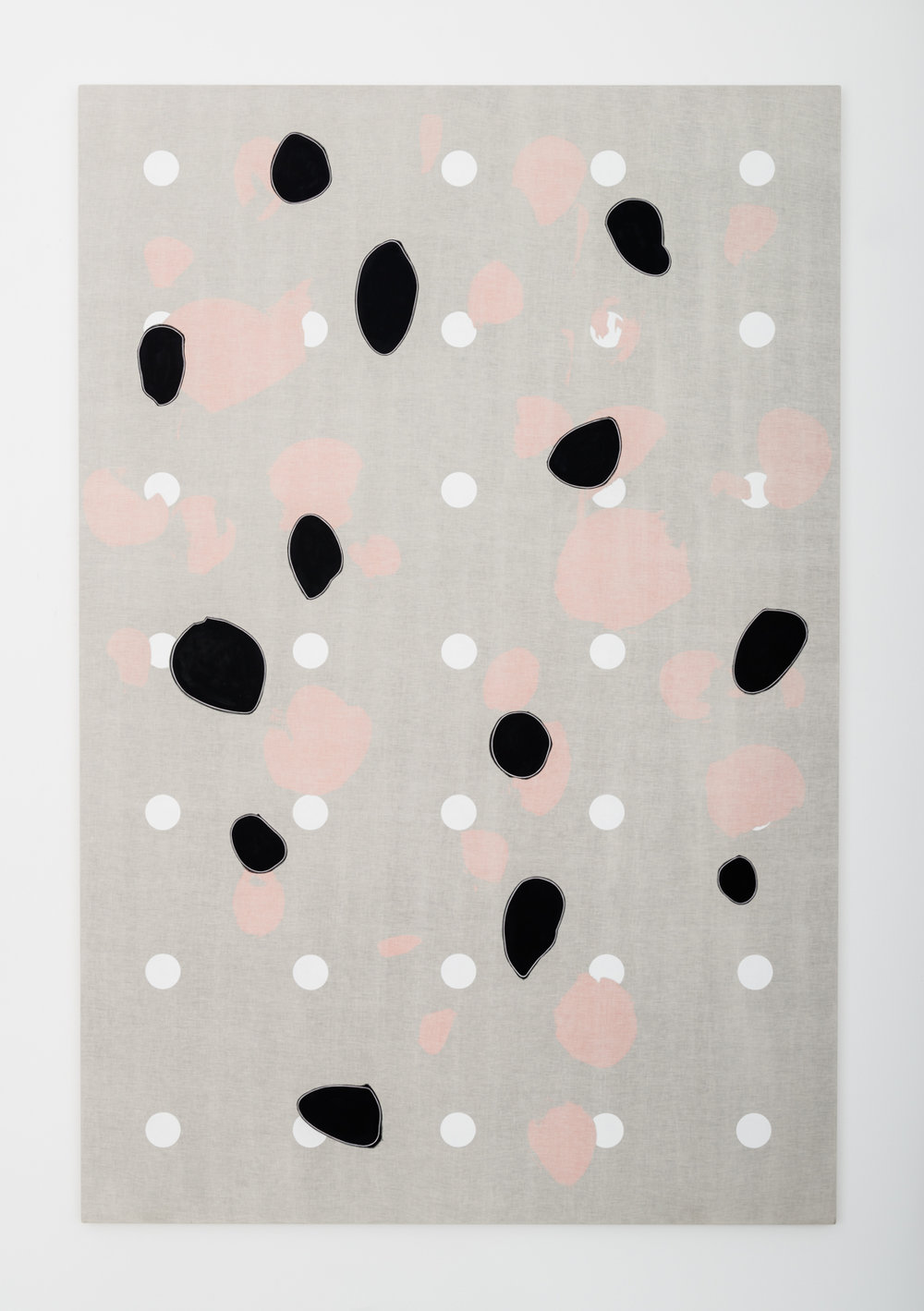 Zak Prekop Three Patterns (White) 2015 Oil on muslin 96 x 64 in (243.84h x 162.56w cm) ZP359