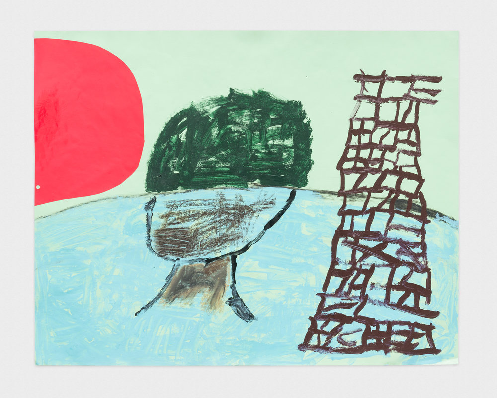 Torey Thornton Goon Goblet, Eastern Architecture 2016 Mixed media on paper 22 x 28 in (artwork); 24 x 30 in (framed) TT009