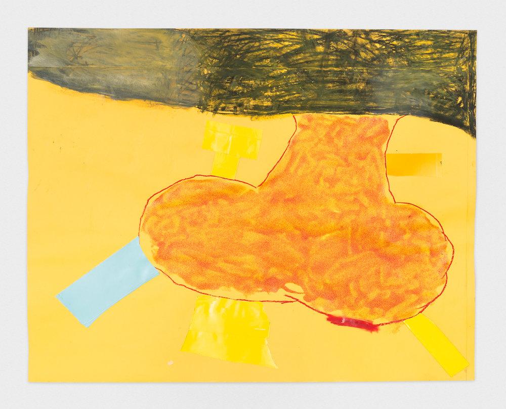 Torey Thornton Succotash Has Corn 2015 Mixed media on paper 22 x 28 in (artwork); 24 x 30 in (framed) TT016