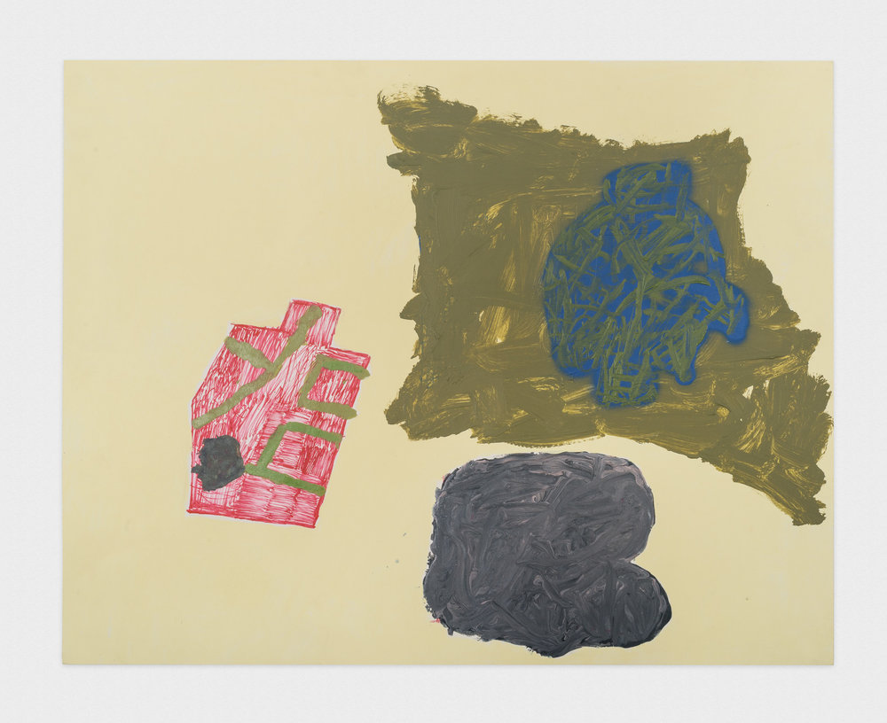 Torey Thornton Barny 2015 Mixed media on paper 22 x 28 in (artwork); 24 x 30 in (framed) TT022