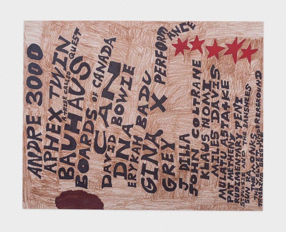 Torey Thornton Steady Foundation on Immediacy 2016 Mixed media on paper 22 x 28 in (artwork); 24 x 30 in (framed) TT029