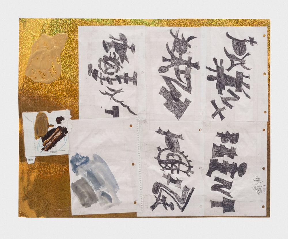 Torey Thornton Once A Punk, Always Pumpkin 2015-2016 Mixed media on paper 22 x 28 in (artwork); 24 x 30 in (framed) TT037