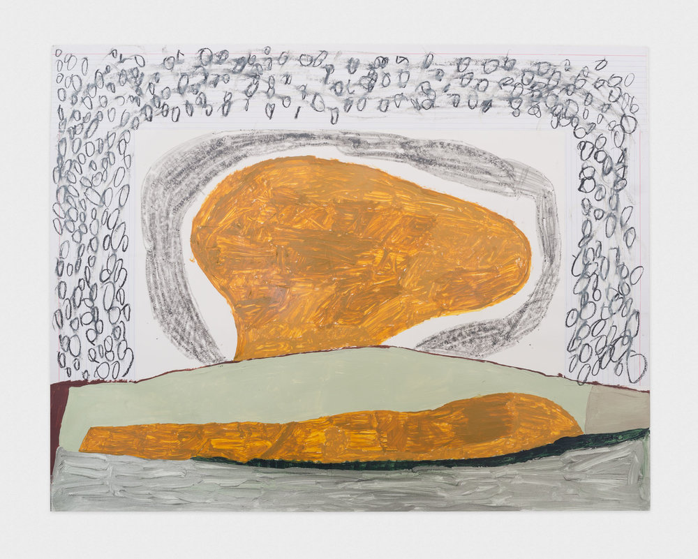 Torey Thornton (Untitled) (How Many Collars Make Up a Stadium) 2016 Mixed media on paper 22 x 28 in (artwork); 24 x 30 in (framed) TT039