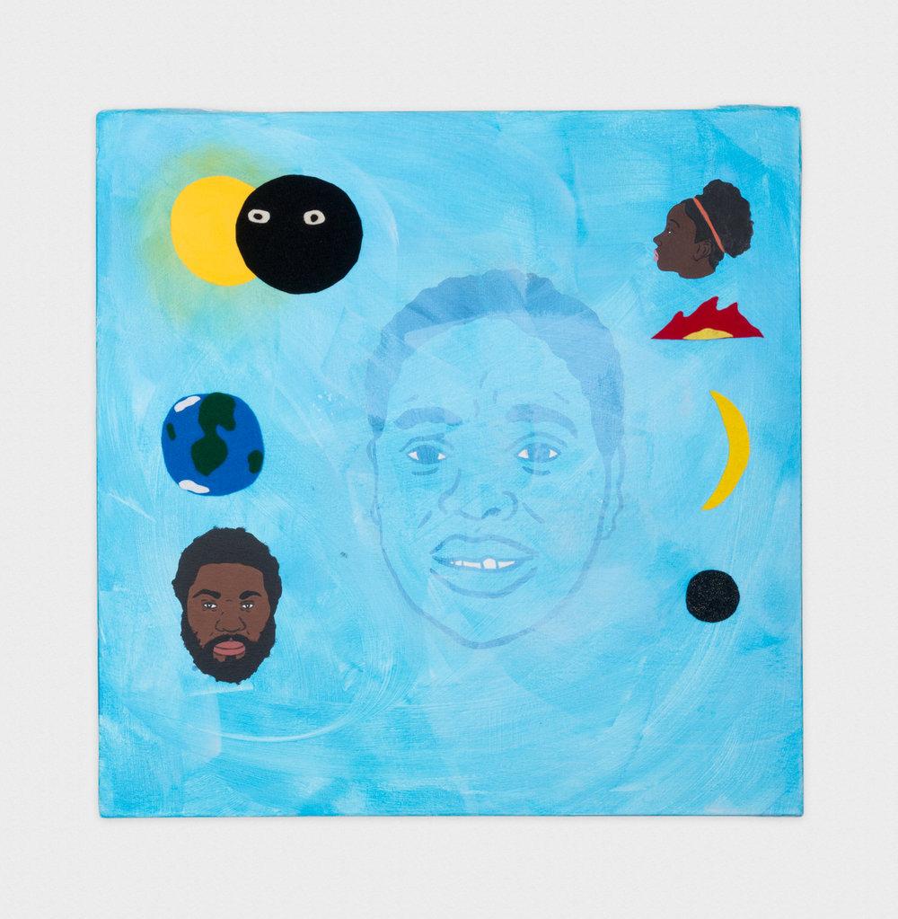 David Leggett Gods and Earths 2016 Acrylic and felt on canvas 30.13 x 30.13 in (76.53h x 76.53w cm) DL013