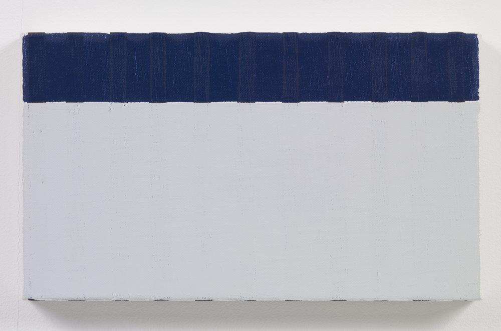 Yui Yaegashi Brown Line 2016 Oil on canvas 5.5 x 9.5 in (13.97h x 24.13w cm) YY063