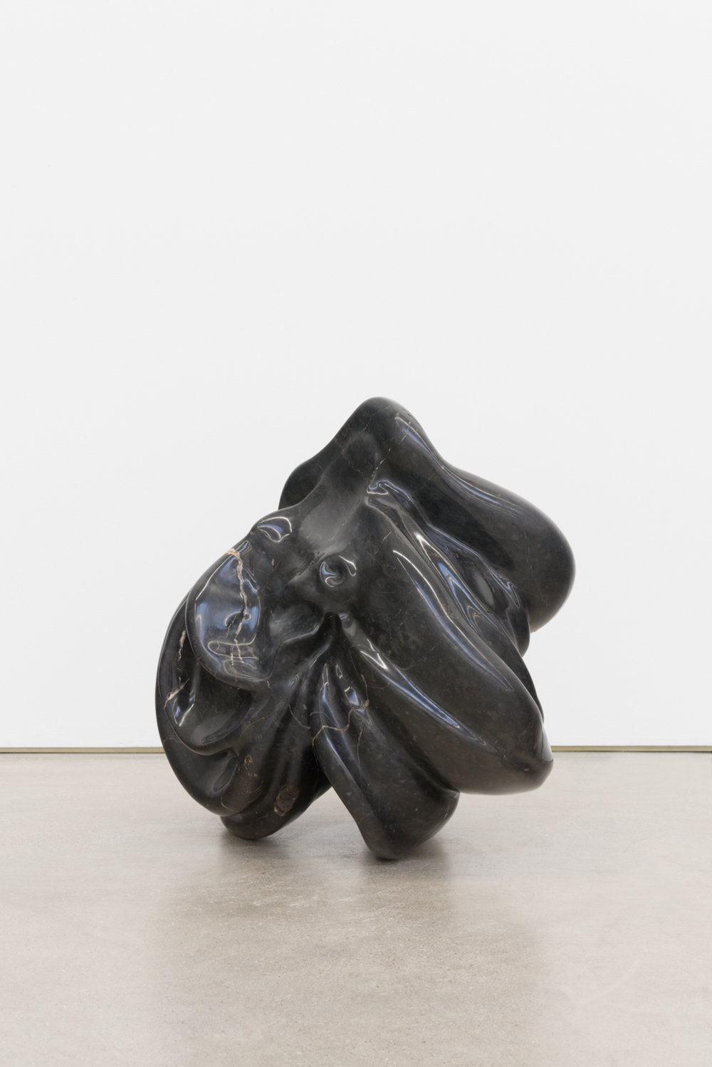 Alma Allen  Not Yet Titled , 2016 Found black marble 16h x 17w x 12d in AA060