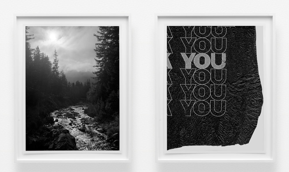 Margarete Jakschik  Me and You  2016 Chemical print on fiber paper 23 ¾h x 19w in (Each, Framed) Edition of 5 MJ035