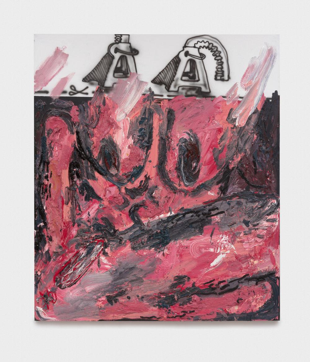 Alex Becerra  Broken Jacks  2016 Oil and acrylic on linen 82 ½h x 71w in AB112