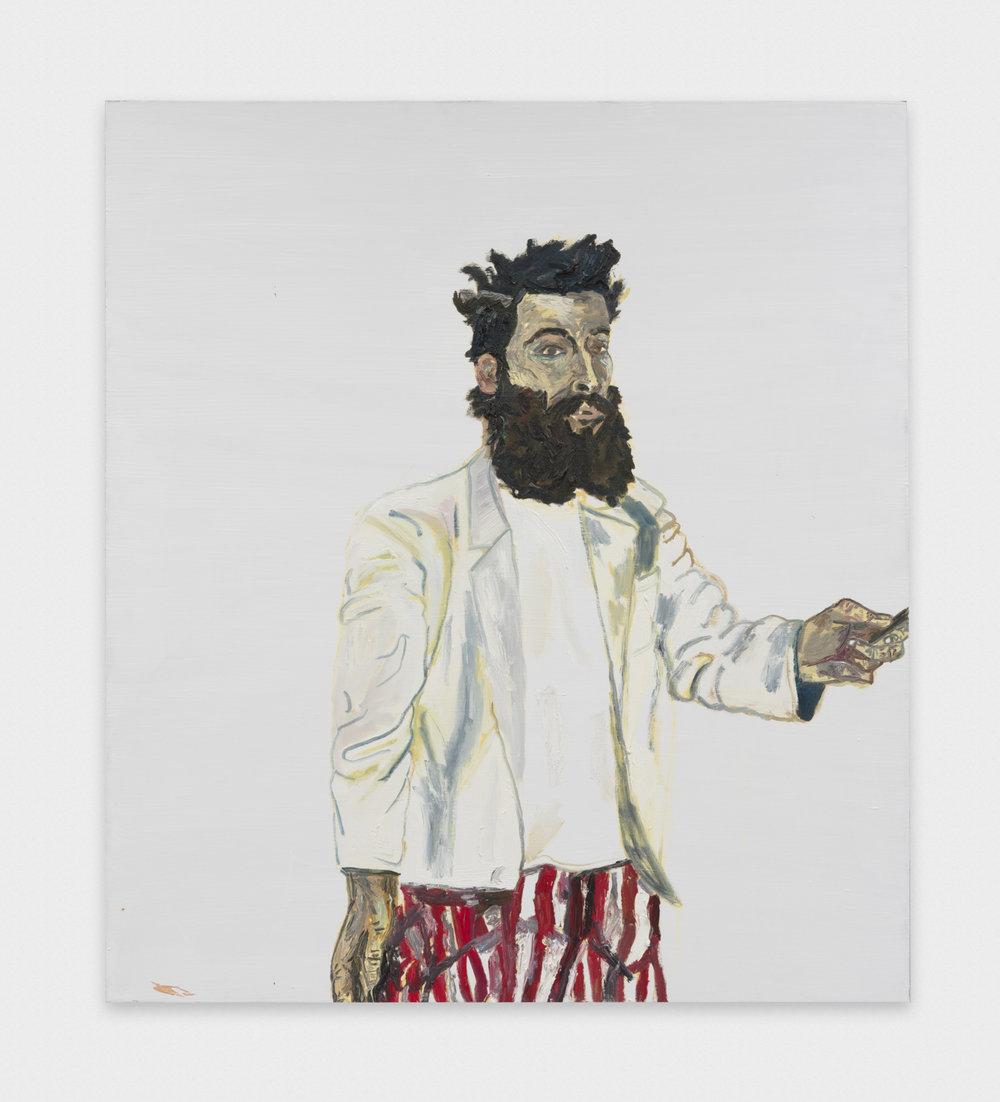 Alex Becerra Self Portrait (Sleepy Jones) 2016 Oil and acrylic on linen 71 x 63 in (180.34h x 160.02w cm) AB117