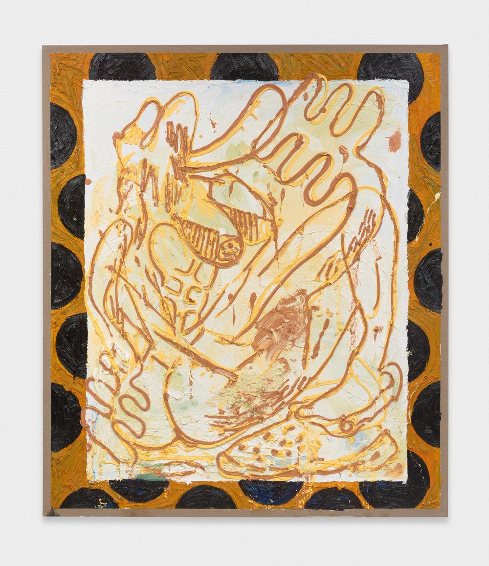 Alex Becerra Milwaukee's Best (Dots) 2016 Oil on linen 82.5 x 71 in (209.55h x 180.34w cm) AB118