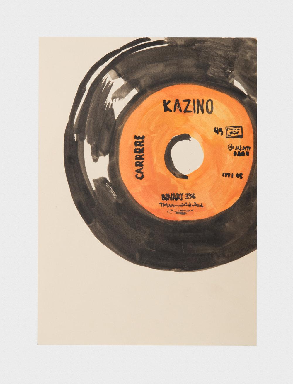 Alex Becerra Kazino 2016 Watercolor 11 3/4 x 8 1/3 in (29.85h x 21.16w cm) AB329