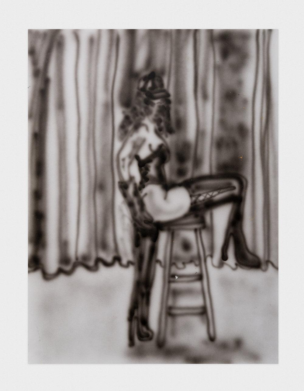 Alex Becerra  Open 24/7 Girls  2016 Airbrush on paper 24h x 18w in AB136