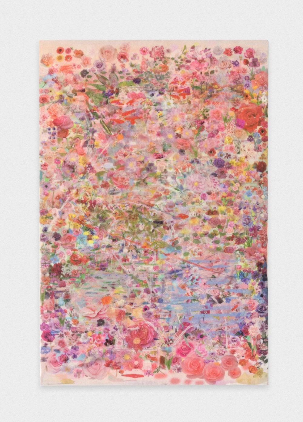 Michelle Rawlings Untitled 2017 Digital print on silk 11.25 x 7 in (28.58h x 17.78w cm) MRaw006