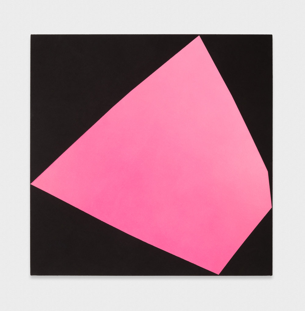 Kim Fisher  Magazine Painting (Large Pink)  2017 Oil on dyed linen on panel 58h x 58w in KF045