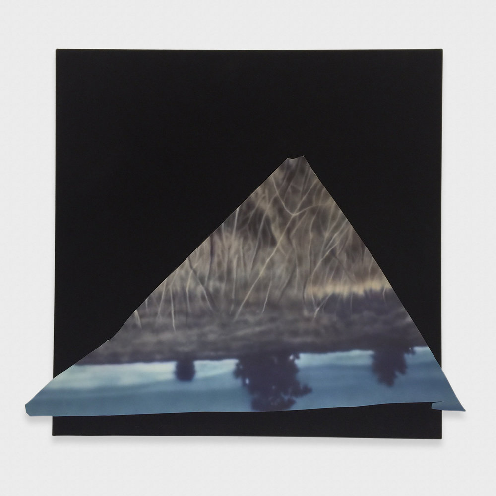 Kim Fisher  Magazine Painting (Vanishing Point)  2017 Oil on aluminum on dyed linen on panel 50h x 55w in KF032