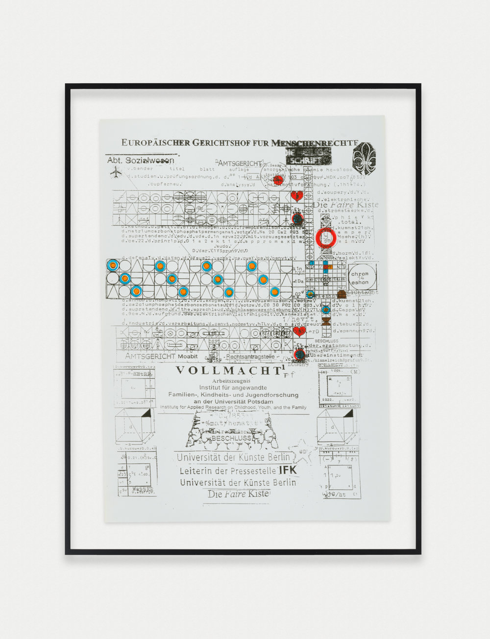 Adelhyd van Bender Untitled 1999-2014 Mixed media on photocopy 16.5 x 11.75 in (41.91h x 29.85w cm) AVB020