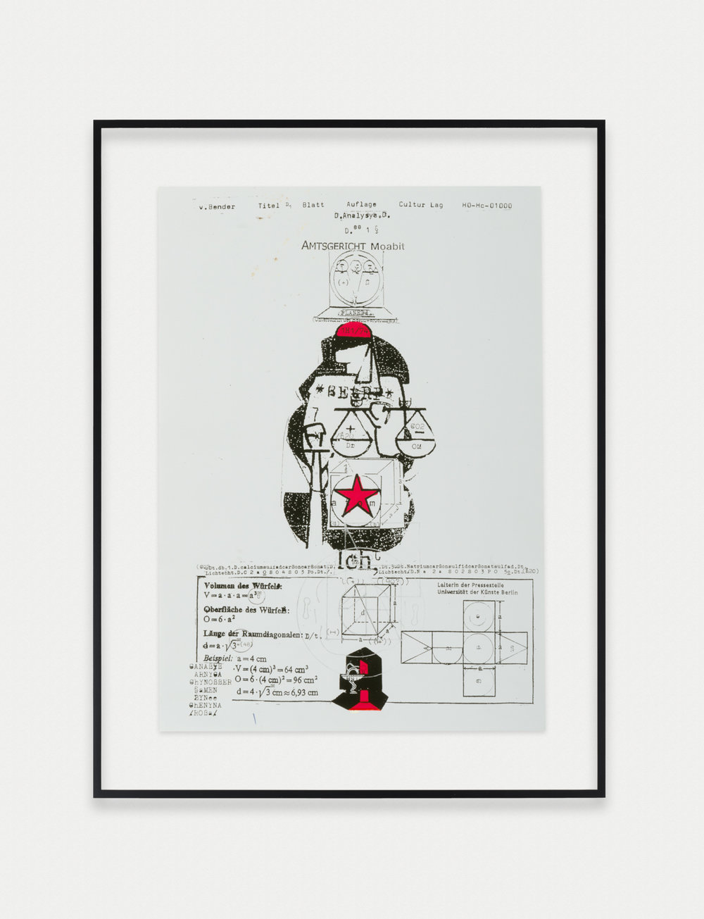 Adelhyd van Bender Untitled 1999-2014 Mixed media on photocopy 16.5 x 11.75 in (41.91h x 29.85w cm) AVB015