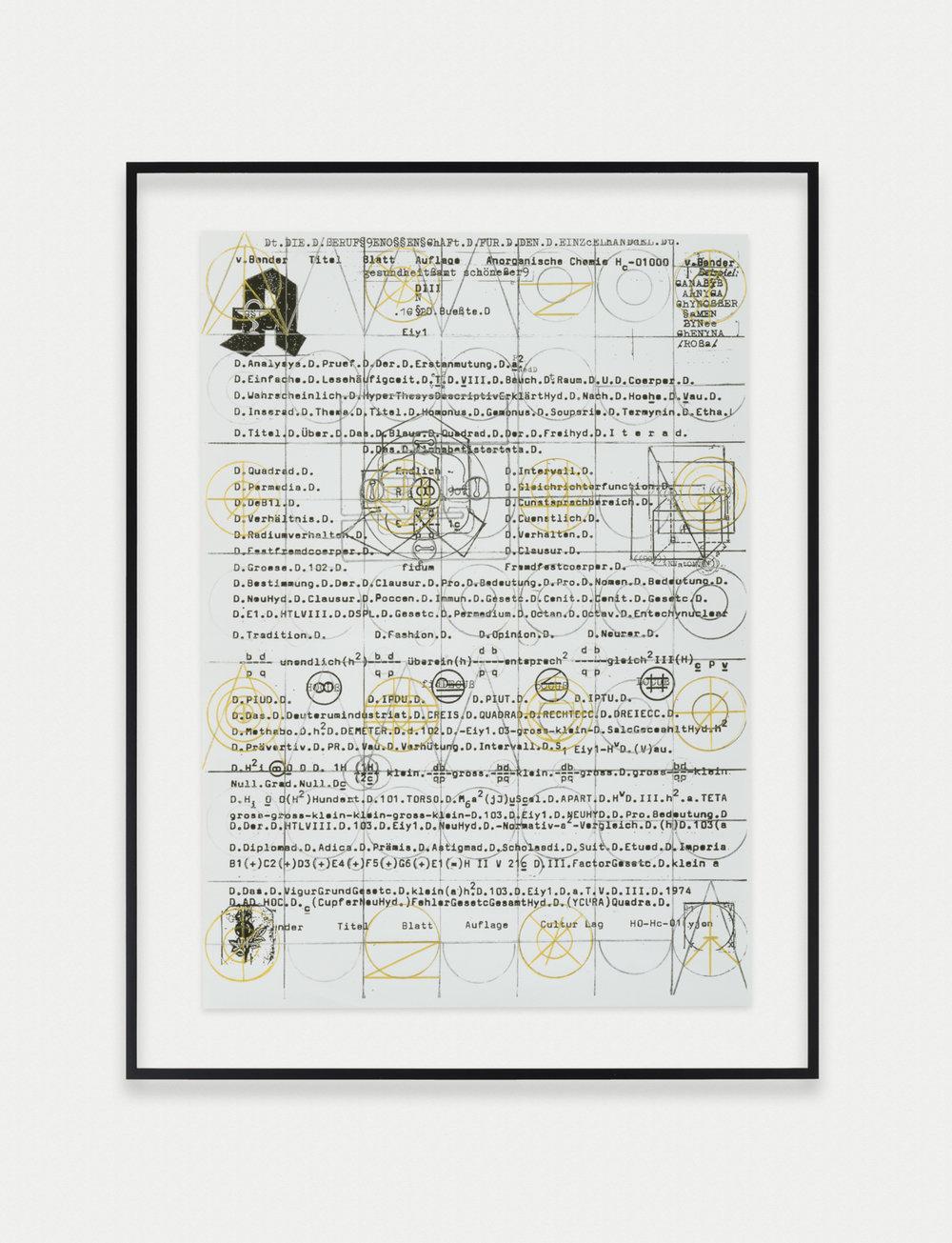 Adelhyd van Bender Untitled 1999-2014 Mixed media on photocopy 16.5 x 11.75 in (41.91h x 29.85w cm) AVB016