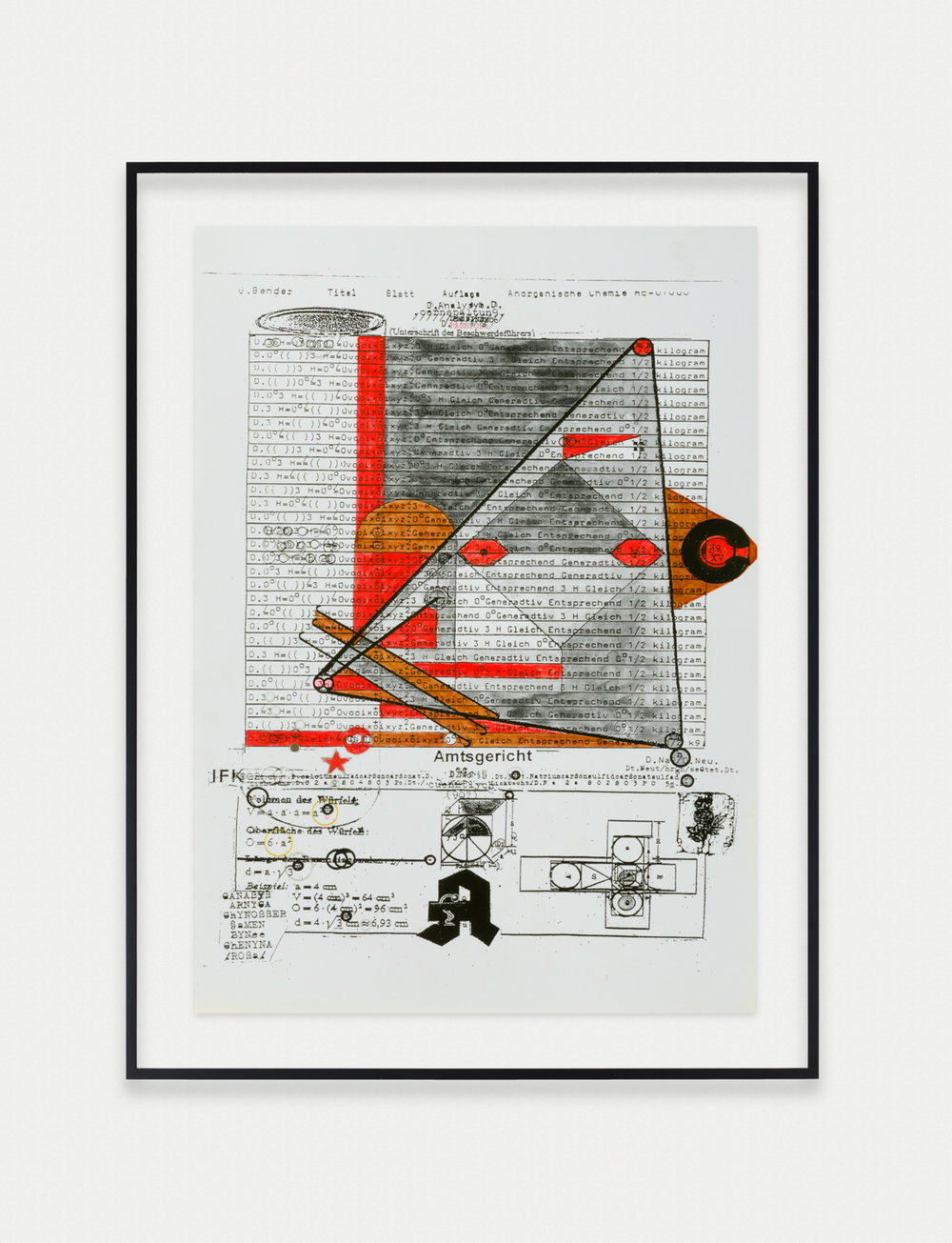 Adelhyd van Bender  Untitled  1999-2014 Mixed media on photocopy 16 ½h x 11 ¾w in AVB022