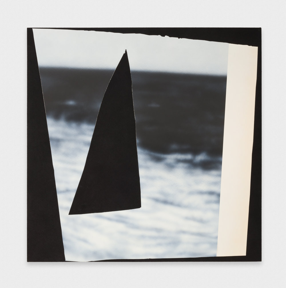 Kim Fisher  Magazine Painting (Ocean with Black Triangle)  2017 Oil on dyed linen on panel 58h x 58w in KF027