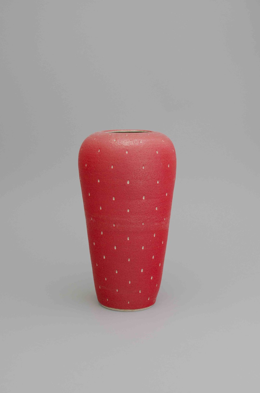Shio Kusaka  Untitled (strawberry 39)  2015 Stoneware 18 ½h x 10w x 10d in SK436