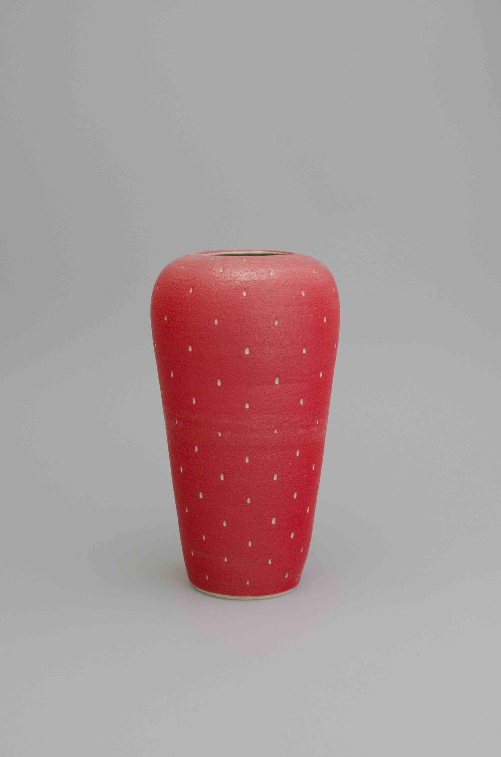 Shio Kusaka  Untitled (strawberry 39)  2015 Stoneware 18 1/2h x 10w x 10d in SK436