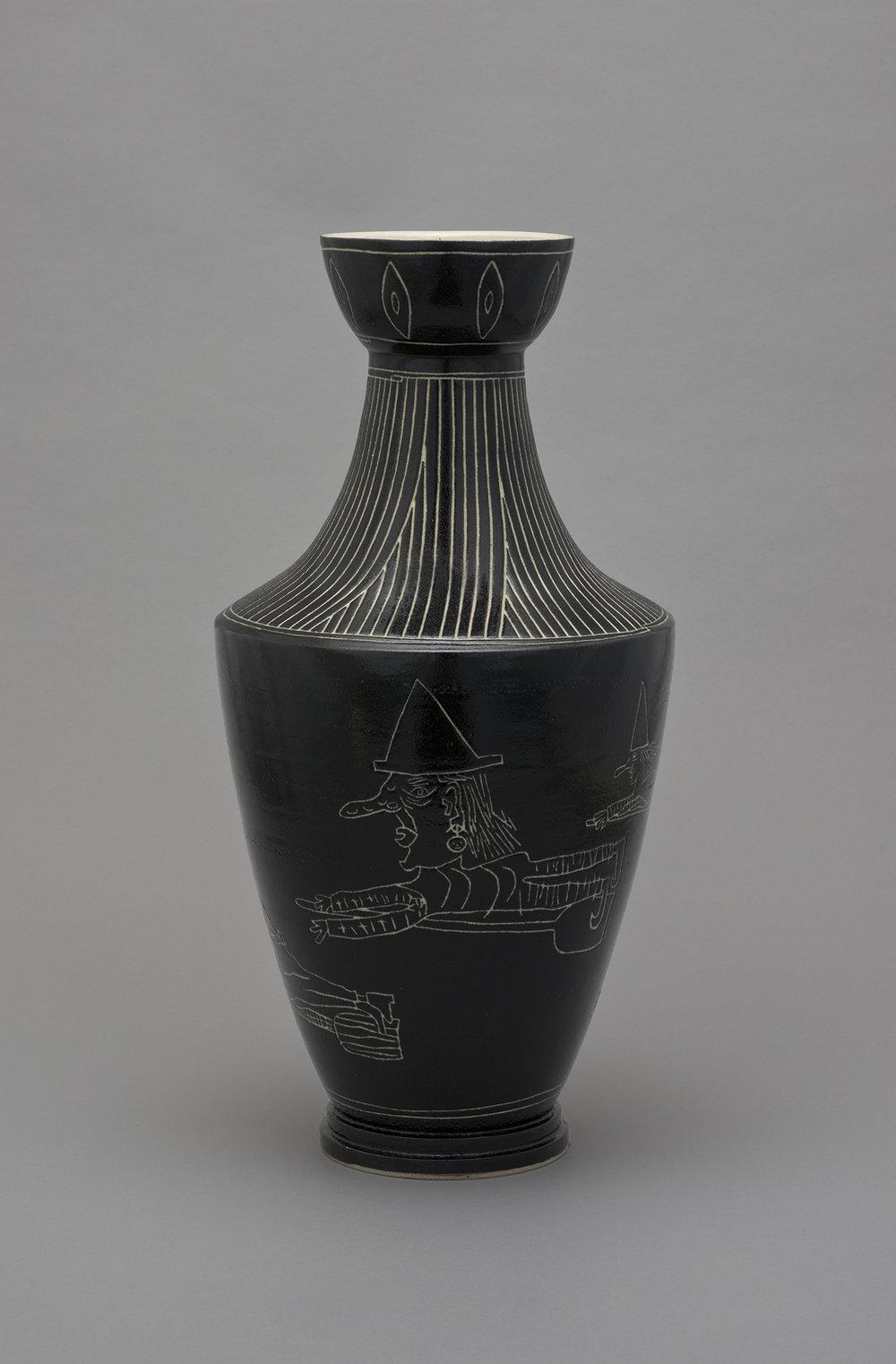 Shio Kusaka Untitled (witch 4) 2015 Stoneware 27 x 13.5 x 13.5 in (68.58h x 34.29w x 34.29d cm) SK437