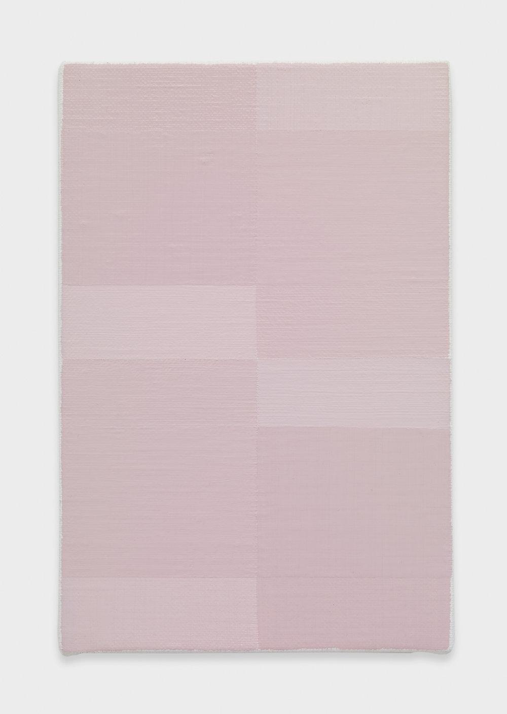 Yui Yaegashi Wipe 2017 Oil on canvas 9 5/8h x 6 1/3w in 24.45h x 16.09w cm YY095