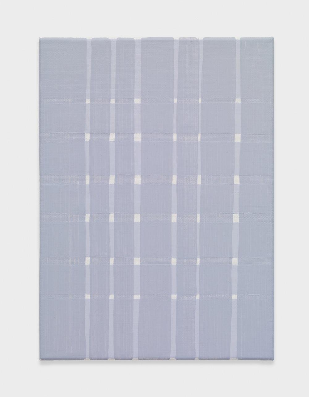 Yui Yaegashi Violet No. 2 2017 Oil on canvas 8 3/4 x 6 1/4 x 3/4 in 22.23h x 15.88w cm YY091