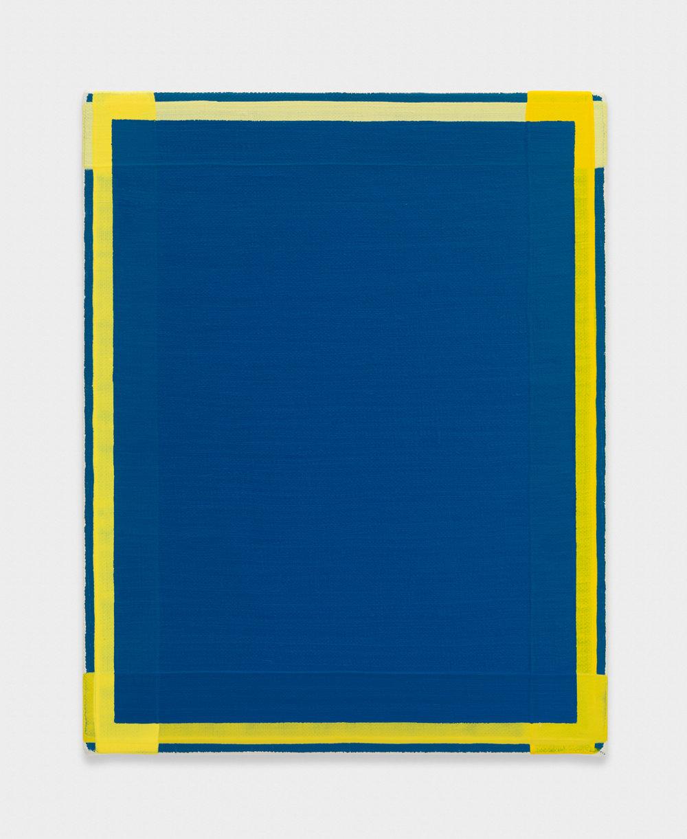 Yui Yaegashi yellow 2017 Oil on canvas 9 5/8h x 7 1/2w in 24.45h x 19.05w cm YY105