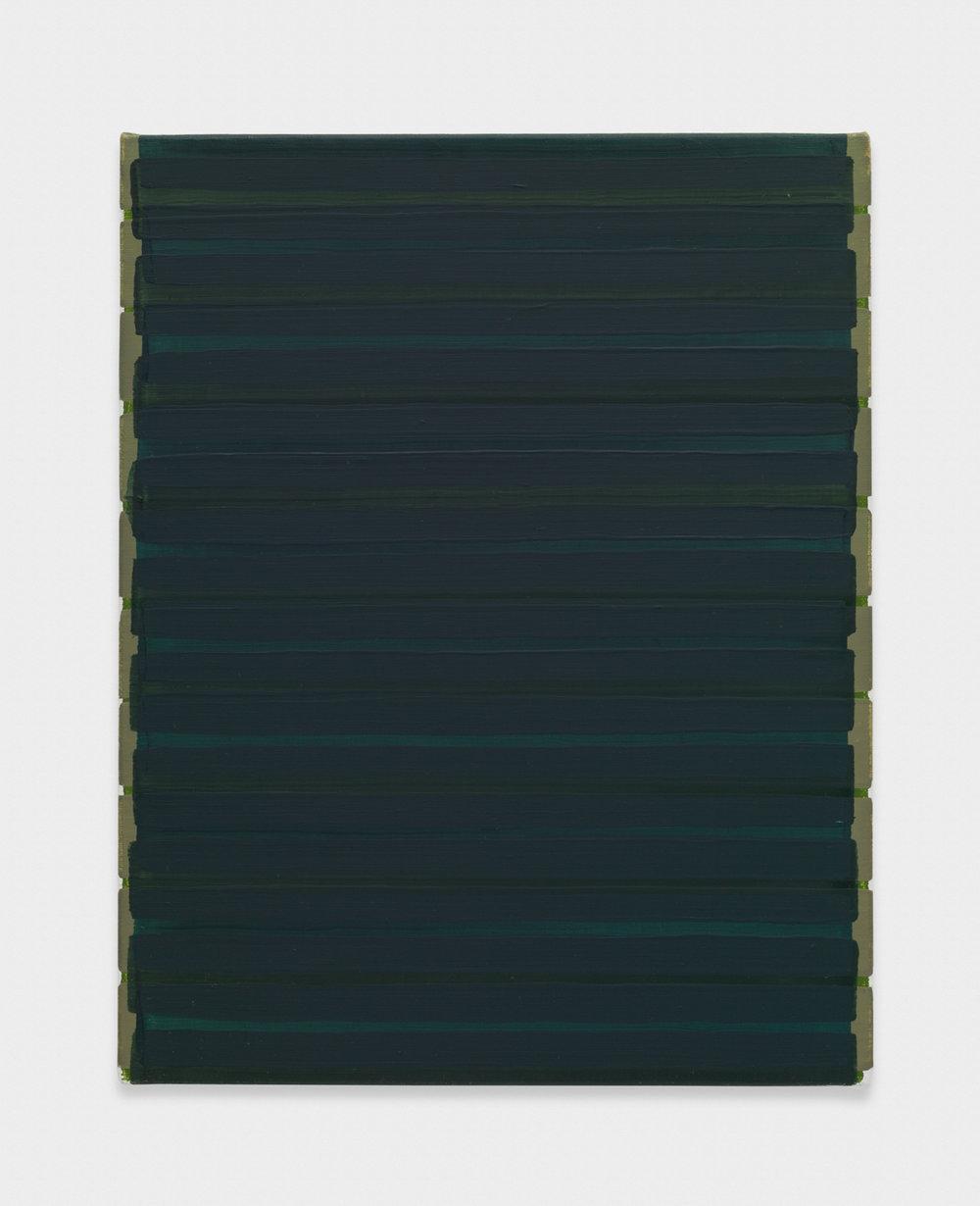 Yui Yaegashi by turns 2017 Oil on canvas 9 5/8h x 7 1/2w in 24.45h x 19.05w cm YY104
