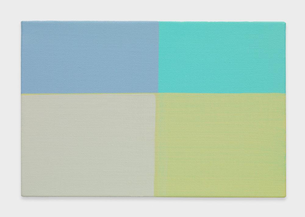 Yui Yaegashi  Divide Land  2016 Oil on canvas 8 ¾h x 13w in YY087