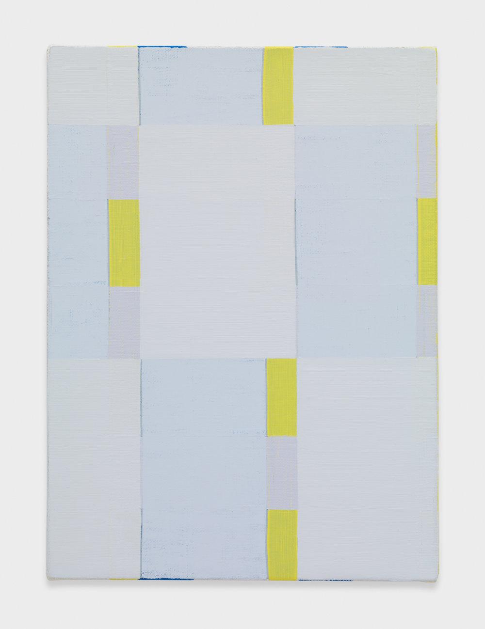 Yui Yaegashi Untitled 2016 Oil on canvas 9 3/4h x 13 1/4w in 24.77h x 33.66w cm YY088