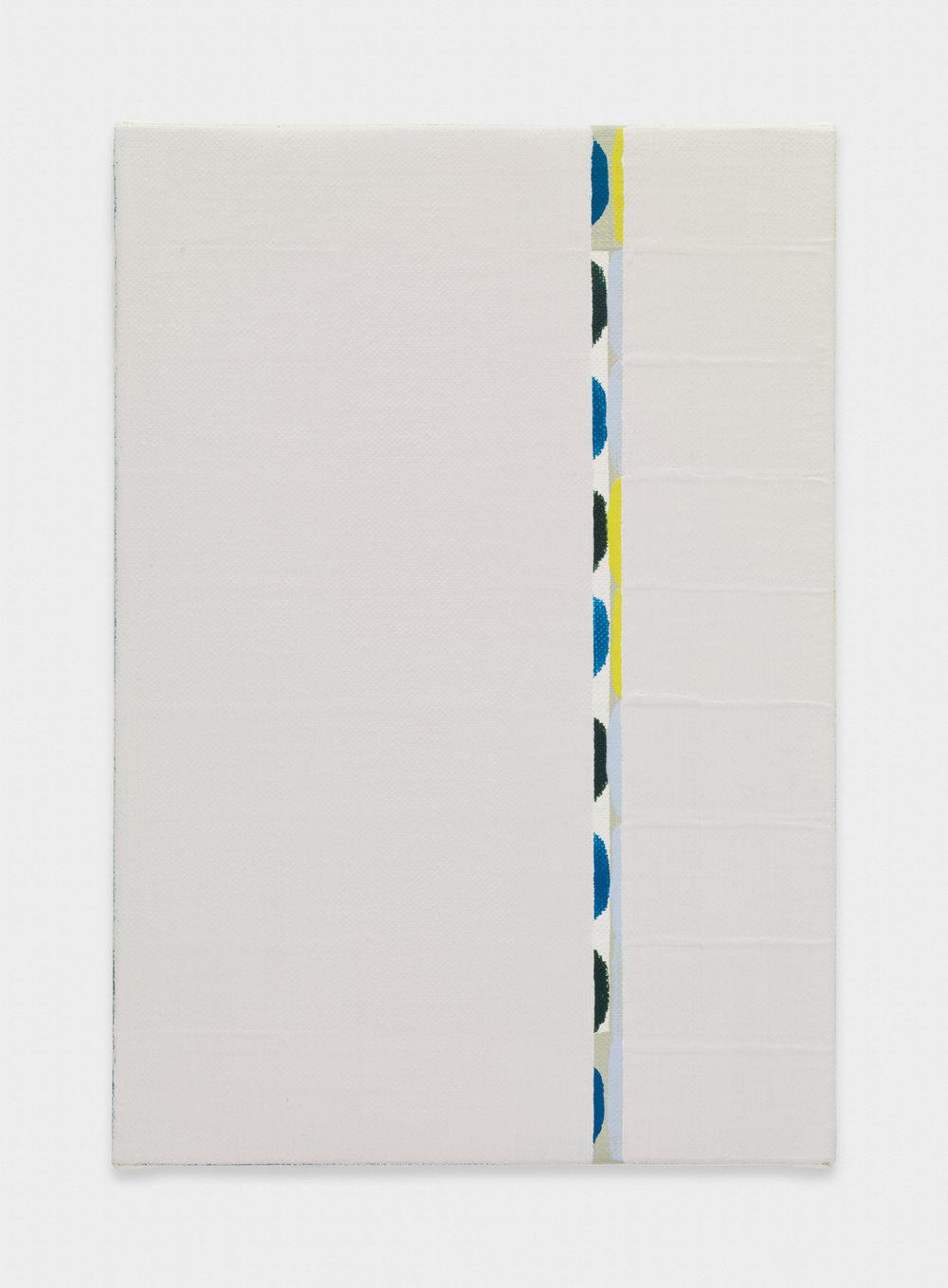 Yui Yaegashi  midstream  2017 Oil on canvas 9 ⅛h x 6 ⅓w in YY103
