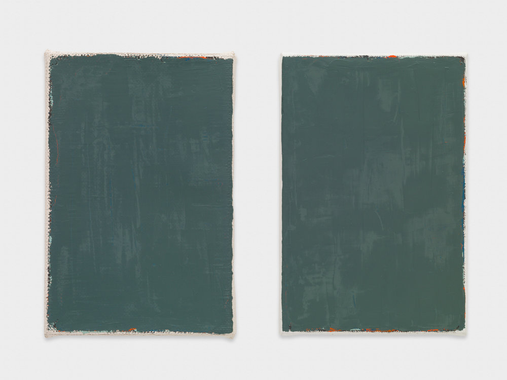 Yui Yaegashi Not yet titled 2017 Oil on canvas Diptych, Each Panel: 7 ¼h x 4 ⅞w in YY112