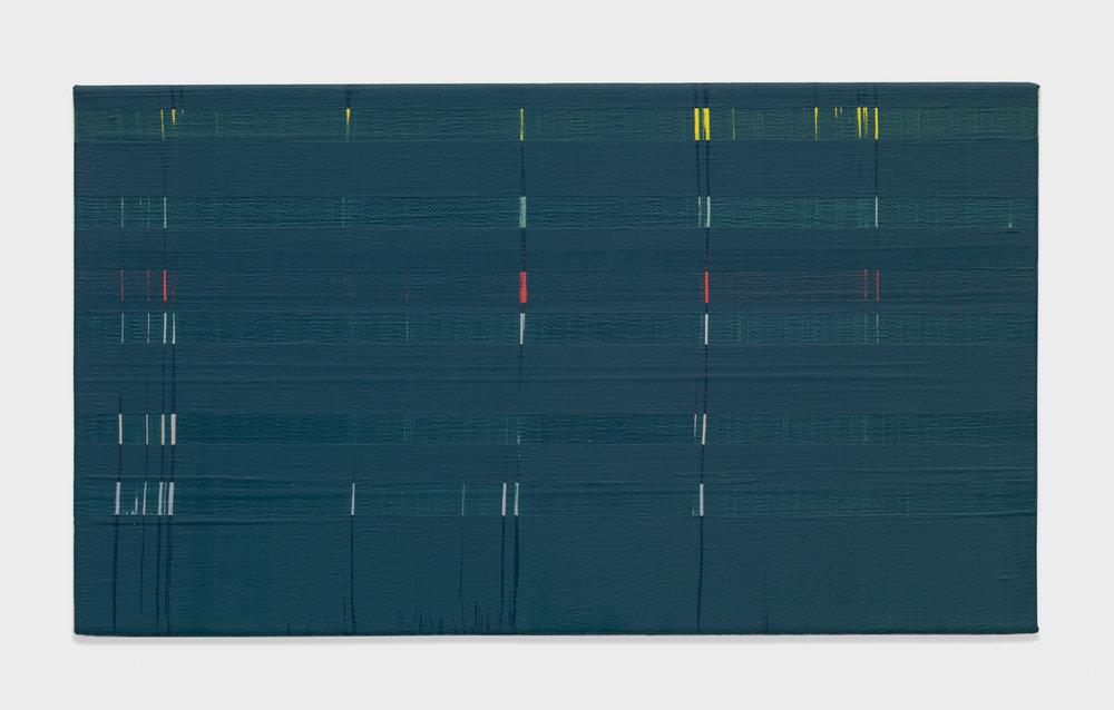 Yui Yaegashi Untitled 2017 Oil on canvas 7 5/8h x 13 1/4w in 19.37h x 33.66w cm YY097