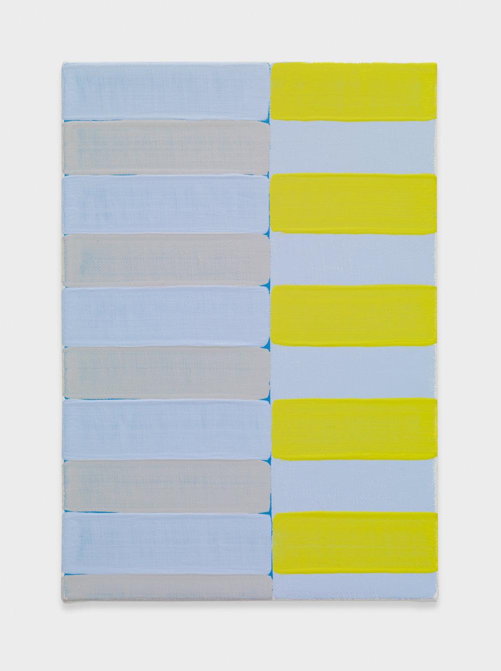 Yui Yaegashi Untitled 2017 Oil on canvas 9 h x 6 1/2w in 22.86h x 16.51w cm YY092