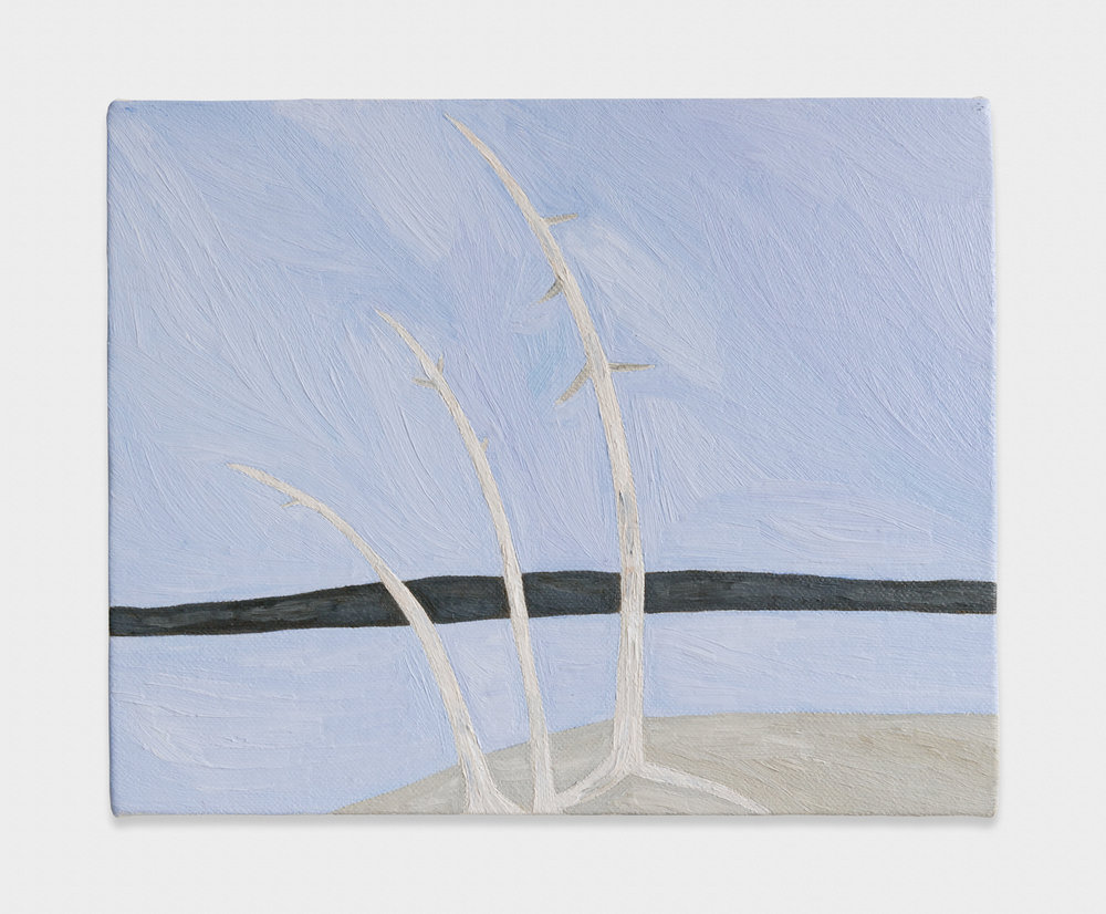 Yuko Murata  three trees  2013 Oil on canvas 8 ⅔h x 10 ⅘w in YukoM002
