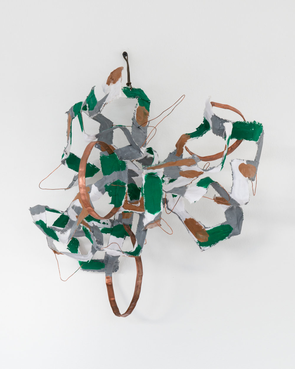 Miho Dohi  buttai 22 , 2013 Brass, wire, and cloth 11 4/5 x 15 3/4 x 13 3/4 in MihoD001