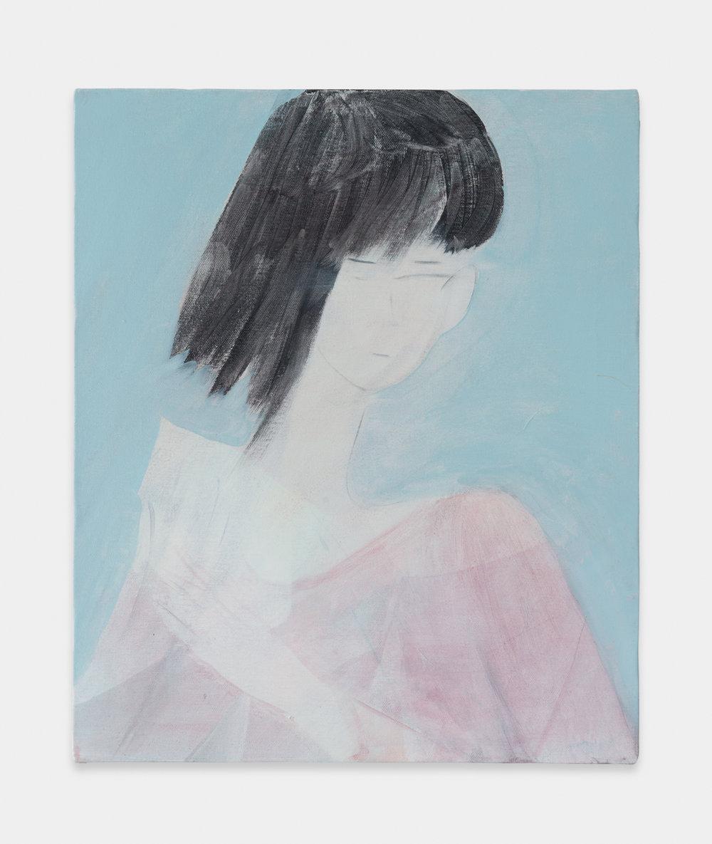 Yu Nishimura  act  2017 Acrylic on canvas 17 9/10 x 15 in YN001